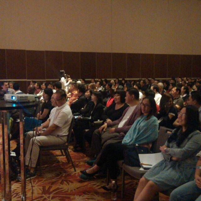 Janice Yap and the Kuching audience