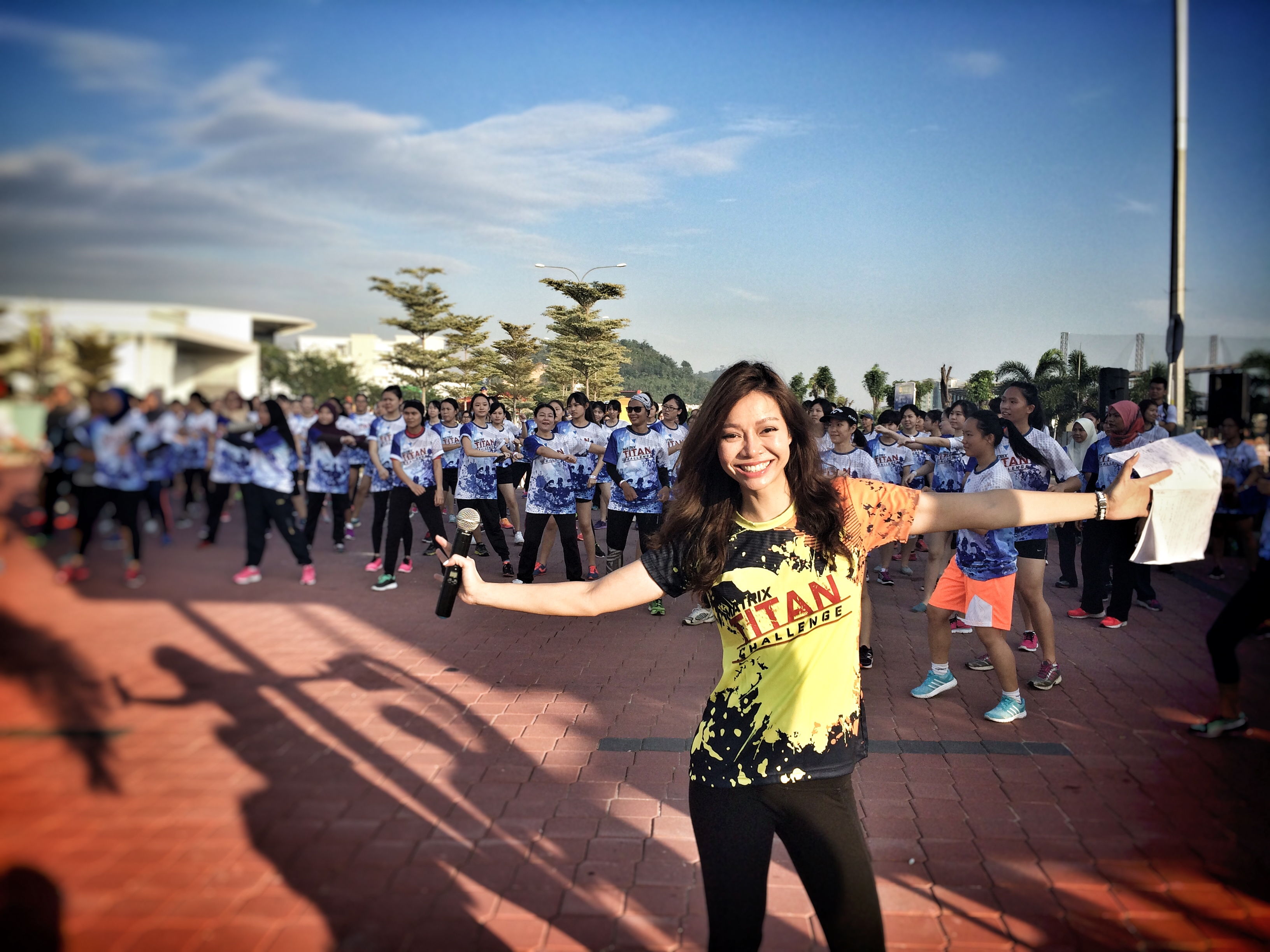 Janice Yap Celebrity Emcee Hosts Matrix Titan Challenge