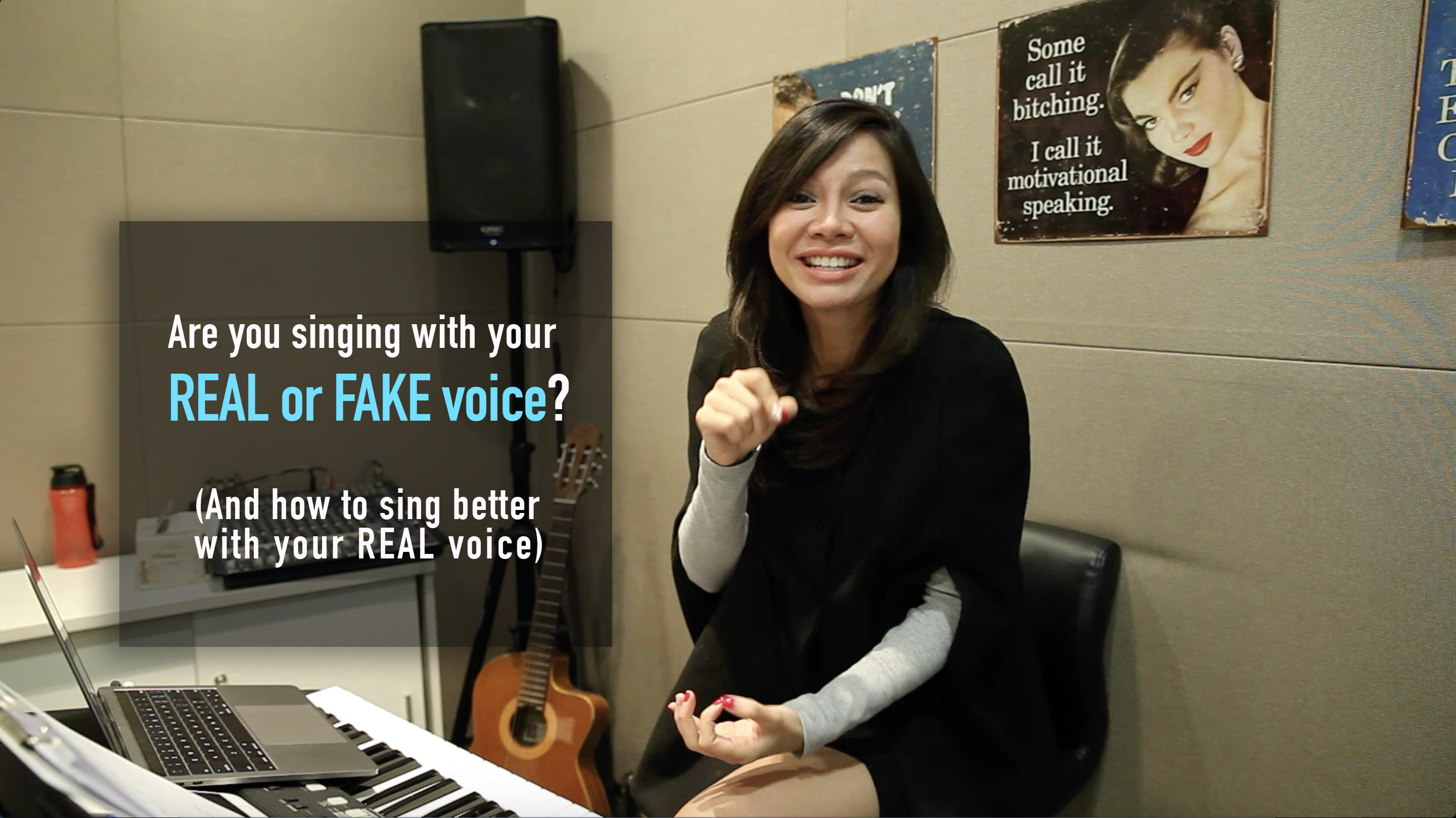 Singing with real voice or fake voice